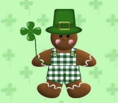 St. Patrick's Day Gingerbread Man