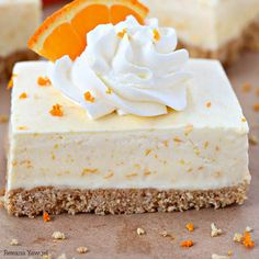 Orange Creamsicle pie Bars Recipe