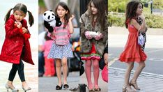 Suri Cruise has more heels than most adult women. High Heels For Kids, Young Money, Baby Swag, All Things Cute, Harrods, Lifestyle Blog, Kimono Top, Super Cute, Nordstrom
