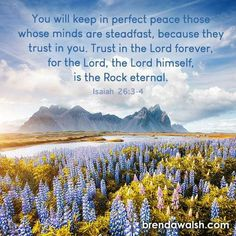 Isaiah 26 3 4, Perfect Peace, Bible Scriptures, Holy Spirit, The Rock, Jesus Christ, Prayers, Spirituality, Faith
