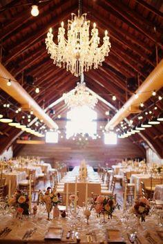 Wedding Decor: Elegant Barn Wedding.