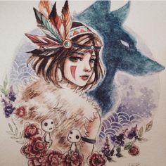 Behind The Scenes By art_spotlight Tatuaje Studio Ghibli, Studio Ghibli Tattoo, Tattoo Design Drawings, Art Drawings, Fan Art, Art Pages, Cartoon Art, Art Sketches, Watercolor Art