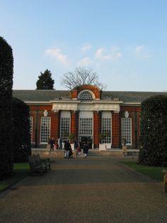 The Orangery in London's Kensington Gardens, famous restaurant part of the Kensington Palace