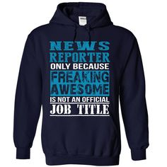 News Reporter T-Shirts, Hoodies. ADD TO CART ==► https://www.sunfrog.com/LifeStyle/News-Reporter-7664-NavyBlue-Hoodie.html?id=41382