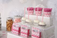 Tickled Pink: Pink Chevron Party Supplies - Perfect for baby showers, birthday parties, bridal showers and everyday parties @BigDotOfHappiness.com #BigDot #HappyDot
