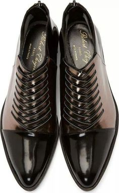 Robert Clergerie Black Woven Oreste Shoes