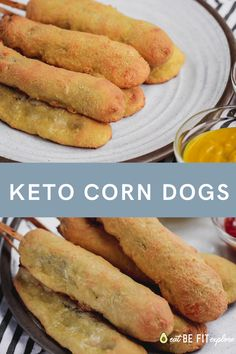 Keto Corn Dogs - THM Kids Favorites - Are you a fan of those yummy Corn Dogs at the Fair? Enjoy this tastier and healthier Corn Dog recipe! In this recipe, I will share some important tips to help you make the BEST Corn Dogs around. Corn Dogs, Ketogenic Recipes, Low Carb Recipes, Diet Recipes, Healthy Recipes, Ketogenic Diet, Dessert Recipes, Cooking Recipes, Coconut Recipes