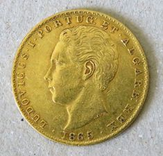 Catawiki online auction house: Portugal Monarquia - D. Luís I - ( 1861-1889 ) - 2.000 Reis - 1865 - Ouro