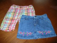 Mouse over image to zoom    Have one to sell? Sell it yourself  Girls Skort and GYMBOREE Plaid Bermuda Shorts Lot Size 6 $6.99