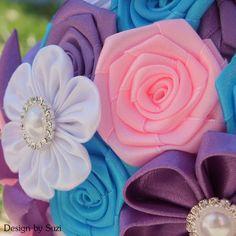Kanzashi Flower Bouquet #kanzashi