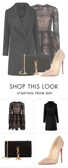 """""""Outfit #1226"""" by sofiaabaarona1998 on Polyvore featuring moda, Alexis, Yves Saint Laurent, Christian Louboutin, women's clothing, women's fashion, women, female, woman y misses"""