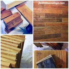 Rustic Wood Fence Board Plank Wall - DIY Tutorial