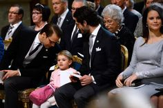 """In the afternoon of March 03, 2016, The Royal Chapel held a religious service in honor of the newborn Prince Oscar Carl Olof, Duke of Skane. Stockholm. King Carl Gustaf, Queen Silvia, Princess Madeleine, Christopher O'Neill, Prince Daniel, Princess Estelle, Prince Carl Philip and Princess Sofia attended the """"Te Deum"""" church service at the Royal Chapel in Stockholm, Sweden."""