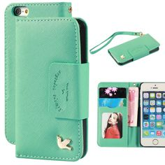 Amazon.com: Case for iphone 5,Case for iphone 5s,By Ailun,Card Holder,PU Leather Case,(PureGreen): Cell Phones & Accessories