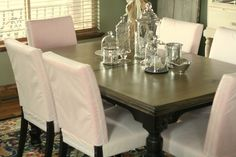 Covering Wooden Chairs With Fabric
