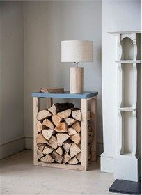 The sophisticated Clockhouse Log Table not just stores logs, but doubles up as a handy side table -15% off #GardenTrading #Christmas