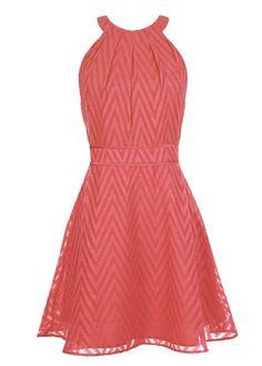 Chevron Halter Dress