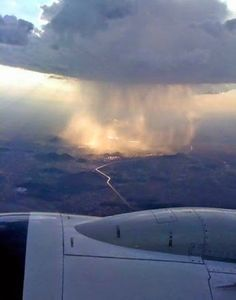 This is how the rain looks from plane!