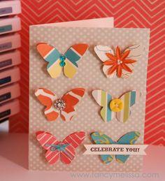 Butterfly Celebrate card created using www.fancymelissa.com #cricut Art Philosophy Cartridge & Dotty for You #ctmh