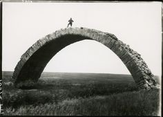 An ancient Roman bridge spans the Wadi al Murr in Mosul, Iraq, 1920.Photograph by M. V. Oppenheim, National Geographic