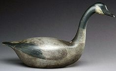 """Dating from the last quarter of the 19th century, the approximately 31"""" long hollow-carved slot-neck Canada goose sold for $632,500."""