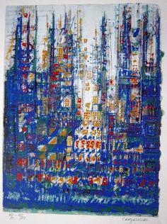 Manuel Cargaleiro - Yesterday  Ténica: Serigrafia  Série:H.C 15/25  1986 Gustav Klimt, Claude Monet, Art Festival, Paint Designs, Old Pictures, Love Art, Art Boards, Art Quotes, Art For Kids