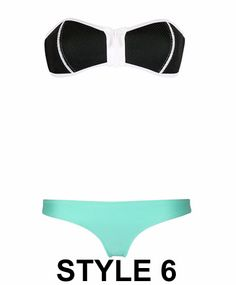 b884af405 Trendy strapless zip cute swimsuit bikini for the modern fashionista - Edgy  design offers a