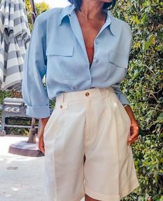 Classy Outfits, Casual Outfits, Fashion Outfits, Womens Fashion, Fashion Tips, Grunge Outfits, Fashion Shorts, Ootd Fashion, Modest Fashion