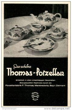 Original-Werbung/ Anzeige 1940 - THOMAS PORZELLAN / MARKTREDWITZ BAYR.OSTMARK - ca. 70 x 110 mm