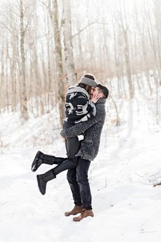 Alpine Snowy Engagement at the Vermion Mountains, no, not Vermont from the Sates, but close enough! What better than to enjoy this snowy hygge love story? Winter Engagement, Engagement Session, Love Story, Winter Jackets, Mountains, Kiss, Beautiful, Winter Coats, Winter Vest Outfits