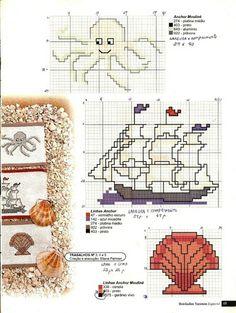 ship, octopus  shell