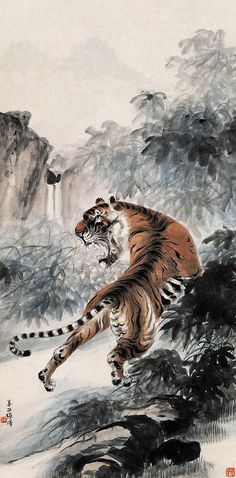 Tiger Painting | Chinese Art Gallery | China Online Museum