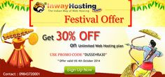 dussehra festival special 30% off on all web hosting plans