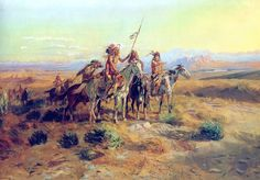 """""""The Scouts"""" by Charles Marion Russell.  Click on image to ENLARGE."""
