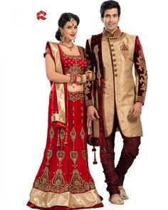 Browse through our latest collection of Indian Bridal Lehenga Choli and Traditional Sherwanis for Groom. #FeelRoyal