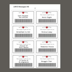Love Coupons, 39 Printable Coupons, Valentine Printable, D Coupons D'amour, Printable Coupons, Printables, Love Gifts, Gifts For Her, Thoughtful Gifts For Him, Selling Handmade Items, Romantic Picnics, Diy Gifts For Boyfriend