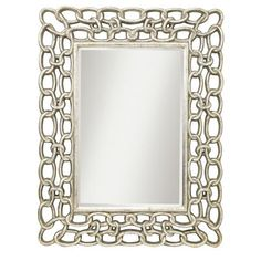 I love big mirrors. Good for taking up space and adding a little something to a large wall. This is going in the basement