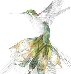 hummingbird art -- i've always wanted a hummingbird tattoo, this inspires me.