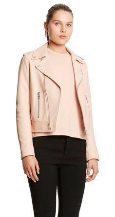 Explore women's outerwear from Australian designer Scanlan Theodore's latest collection. Shop jackets from the official eBoutique, including leather bikers, blazers, toscana fur, crepe knit and more. Scanlan Theodore, Capsule Wardrobe, Biker, Spring Summer, Leather Jacket, Zip, Jackets, How To Wear, Shopping