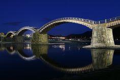 Kintai Bridge back in my homeland. Japan