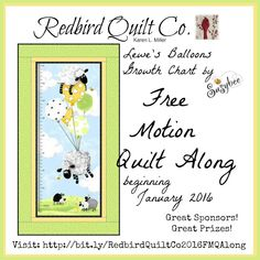 Karen's Quilts, Crows and Cardinals: 2016 Free Motion Quilt Along - Susybee Growth Chart Quilting Tips, Free Motion Quilting, Quilting Tutorials, Machine Quilting, Quilting Designs, Hand Quilting, Sewing Tutorials, Sewing Ideas, Longarm Quilting