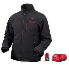 Milwaukee, XXXLarge M12 Lithium-Ion Cordless Black MZ Heated Jacket Kit, 2345-3X at The Home Depot - Mobile