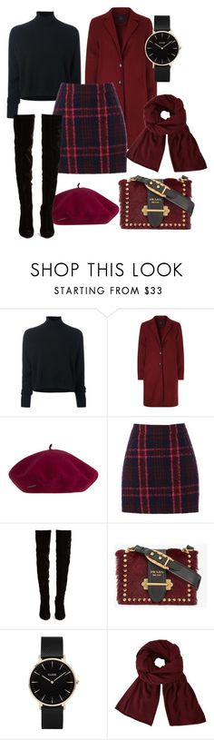 """Fall in NY"" by snow2204 ❤ liked on Polyvore featuring Le Kasha, SET, Oasis, Christian Louboutin, Prada, CLUSE and John Lewis"