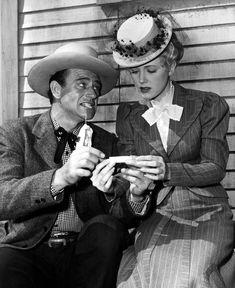John Wayne with Audrey Long