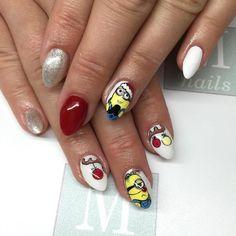 M-nails / Minionki  #handpainted #nails #nailart #nailswag #mnails