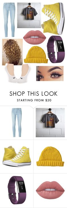 """""""ASU Mash"""" by curlyblonde ❤ liked on Polyvore featuring Frame, Tailgate, Converse, Lowie, Fitbit, Lime Crime and NIKE"""