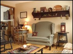 Prim Decor, Country Decor, Country Living, Country Style, Primitive Home Decorating, Primitive Decor, Primitive Country, Colonial Furniture, Cottage Furniture