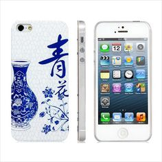 iPhone 5 Mirrored Blue & White Asian Porcelain Design Protective Case This case has class!! Not many left !! Tomorrow may be too late !!