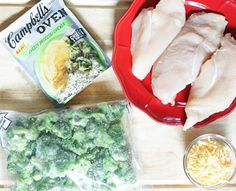 broccoli cheddar chicken bake recipe- only 4 ingredients to an easy dinner!