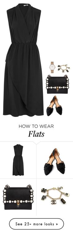"""#7601"" by azaliyan on Polyvore featuring Vince, Report, Fendi, CLUSE and Chanel"